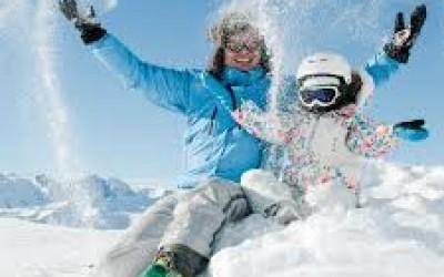 Семьи лыжи в Испании